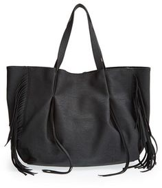 Lulu Fringe Faux Leather Tote...Such a cute leather bag!!!