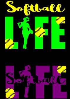 Softball Life SVG Cuttable Printable file Scrapbooking Silhouette by TheLazyIdesigns on Etsy