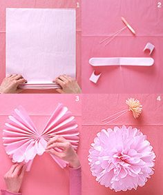 do it yourself tissue paper pomanders
