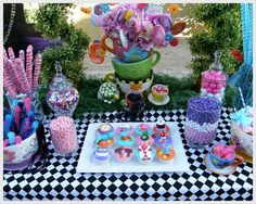 "Photo 4 of 12: Alice in Wonderland, Mad Tea Party, Candy Buffet / Birthday ""Alice in Wonderland Birthday Party"""