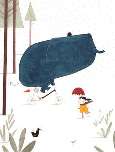 littlechien via richters richters: Fun in the rain by Christine Pym