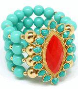Stretch Bead Bangle Bracelet