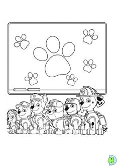 Paw Patrol School Learning Stuff Coloring Pages Printable And Book To Print For Free Find More Online Kids Adults Of