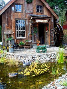 Water wheel mill - G