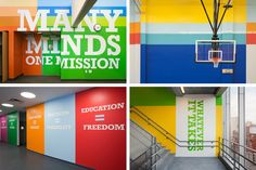 Paula Scher's graphic work at Achievement First Endeavor School
