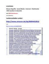 new: German Glossary Social-media Internet information technology Text-Ausschnitte/ LESEPROBE: Glossar-Begriffe Social Media Internet PC-Fachwoerter