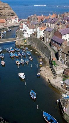Staithes, North Yorkshire, England, from above.  Go to www.YourTravelVideos.com or just click on photo for home videos and much more on sites like this.