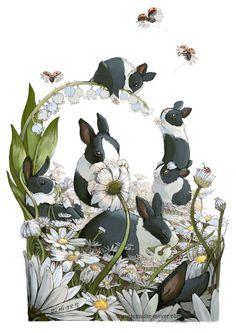 Bunny Hang Out by Jennifer L Meyer  #Dutch #rabbit
