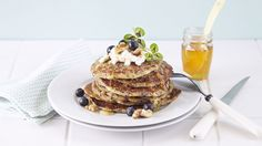 Recipe for Pancakes with Cottage Cheese and Blueberries