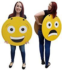 Emoji costume adult funny emoticon smiley face halloween fancy make these super fun diy emoji costumes for under 25 and with no sewing at all solutioingenieria Gallery