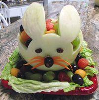 Melon bunny Fruit Bowl by student/customer Jim Lorenz