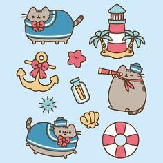 pusheen the cat gift by www.chicute.com Pusheen Love, Pusheen Plush, Pusheen Cat, Cute Easy Drawings, Cute Kawaii Drawings, Pusheen Stormy, Nyan Cat, Art Case, Kawaii Wallpaper