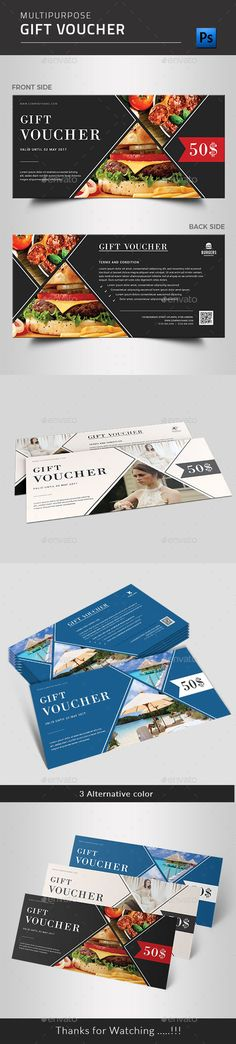 Buy Gift Voucher by BlankToile on GraphicRiver. Modern Gift Voucher Certificate This Gift Voucher Card is best suitable for promoting your business, product or servi. Invitation Card Design, Invitation Cards, Invitations, Discount Vouchers, Gift Vouchers, Promote Your Business, Gift Certificates, Free Gifts, Creative