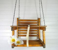 Vintage Wooden HandMade Swing  Retro PlayGround by DivineOrders, $79.00