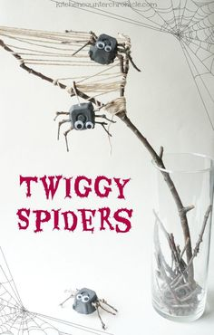 twig spider craft -