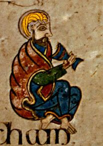Book of Kells - man Medieval Manuscript, Medieval Art, Illuminated Manuscript, Book In Latin, Four Gospels, Late Middle Ages, Book Of Kells, Celtic Art, Celtic Designs
