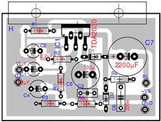 Amplificador de Áudio de 14 Watts PLACA DE CIRCUITO IMPRESSO