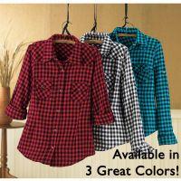 Flannel Buffalo Plaid Shirt