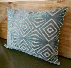 Decorative pillow cover retro teal blue cut velvet by pillowflightpdx on Etsy https://www.etsy.com/listing/94781120/decorative-pillow-cover-retro-teal-blue