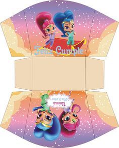 Shimmer and Shine. Shimmer And Shine Costume, Shimmer Y Shine, Birthday Party Treats, Birthday Parties, Happy Birthday, Easy Christmas Crafts, Simple Christmas, Bolo Superwings, Shimmer And Shine Decorations