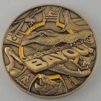 Geocoinfest 2014 Cachin On The Bayou LE Antique Gold Geocoin Trackable w/ Icon