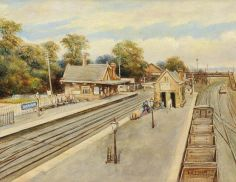 Southall Station (Great Western Railway) by Ernest A. L. Ham.  Date painted: 1941