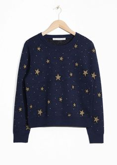 This print is so amazing, not just for Christmas. & Other Stories | Night Sky Jacquard Sweater
