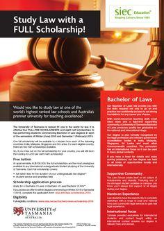 Study Law in Australia with a Full Scholarship! Call: 9779046382 http://siecindia.com/ #StudyinAustralia #Scholarships