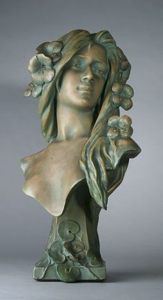 busts of women | Art Noveau Bust of Woman - The Antique Traders