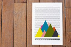 Colourful Mountains by Oelwein via Etsy