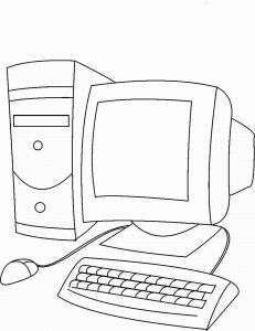 Computer Coloring Pages Printable. Are you looking for computer coloring pages printable? Computer Lab Lessons, Kids Computer, Computer Class, Computer Basics, Computer Literacy, Computer Science, Computer Sketch, Computer Drawing, Easy Coloring Pages