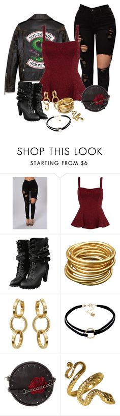 """Toni Topaz"" by tory-lamkins on Polyvore featuring River Island and WithChic"