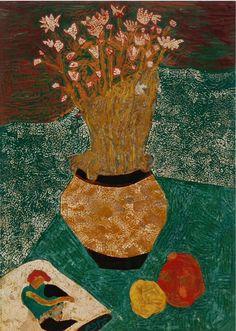 "Egon Schiele ""Flowers and Passion Fruit"""