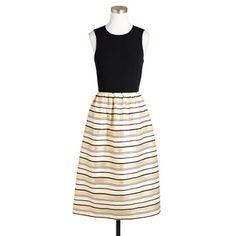 J.Crew gold stripe dress