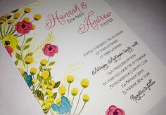 Wedding Invitations  Flower Floral by Whimsicalprints on Etsy, $2.50