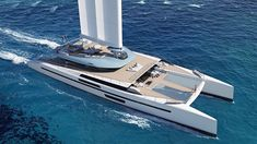 French studio VPLP Design has released its latest yacht concept, a 47.55 metre wingsail catamaran called Evidence