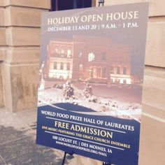 The Holiday Open House brought thousands of guests to the Hall. World Food Prize, Interactive Display, Food Security, Free Admission, Live Music, Open House, Education, Holiday, Vacations