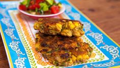 Corn and Coriander Fritters with Avocado Salsa