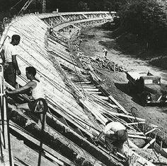 Monza F1 banking under construction.