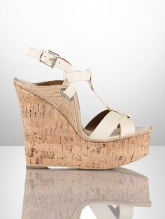Fimesa Calfskin Wedge - Ralph Lauren Collection Sandals - RalphLauren.com