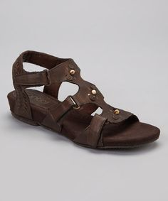 Another great find on #zulily! Mocha Cynthia Leather Sandal by Antia Shoes #zulilyfinds