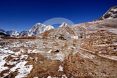 Lobuche is a small town in Khumbu, Nepal near the Everest Base Camp.