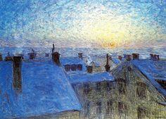 Jansson, Eugene (1862-1915) - Sunrise over the Rooftops (National Museum, Stockholm, Sweden) by RasMarley, via Flickr