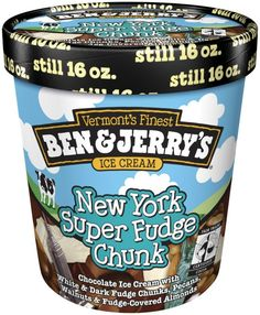Ben & Jerry's New York Super Fudge Chunk. Yum!