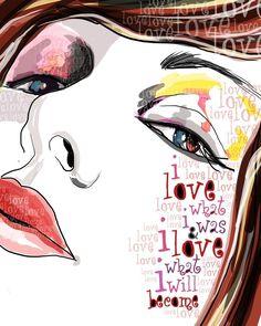 I Love Who I Am / original illustration ART Print by studio3ten