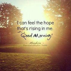 Mandisa....Good Morning <3 :D I wish I had this for my alarm clock!