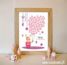 Arbre à empreintes anniversaire enfant, baptême, naissance, bébé, baby shower - fichier imprimable - n°135 : Autres papeterie par cashemir