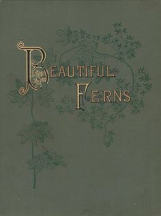 "Book cover from the public domain book, ""Beautiful Ferns."" Download, browse here:  https://archive.org/stream/BeautifulFerns"