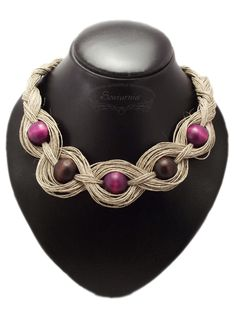 Whether for fashion reasons or to impress others, people love wearing jewelry. But how do you know if you are getting the most of your jewelry collection? Rope Jewelry, Leather Jewelry, Jewelry Crafts, Beaded Jewelry, Jewelery, Jewelry Necklaces, Fabric Necklace, Diy Necklace, Textile Jewelry