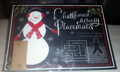 Pier 1 Imports 16 Chalkboard Activity Placemats  Colored Chalk Christmas  #Pier1Imports Colored Chalk, Pier 1 Imports, Placemat, Chalkboard, Activities, Holiday Decor, Paper, Winter, Christmas